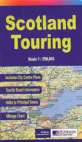 New Scotland Touring Map Paperback Isbn9780008158521
