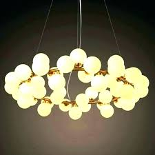 bubble light chandelier chrome ceiling mount with hand blown glasses lights glass