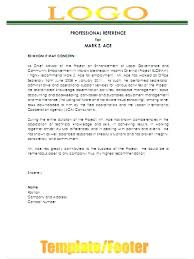 Professional Reference Letter Professional Reference Letter Format ...