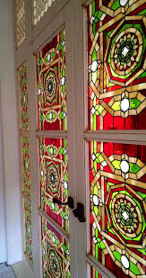 stained glass in the interior items handmade stained glass tiffany geometric pattern stained glass in the door