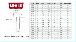 Jeans Size Chart Levis Mens Size Chart Ssilink Co