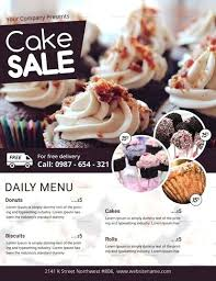 Bake Sale Flyer Templates Free Cake Sale Flyer Template Templates Food Free Samples