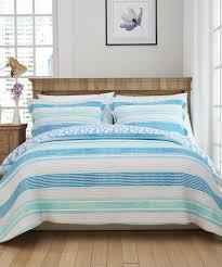 all gone blue nautical stripe cotton duvet
