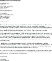 Internal Audit Letter Internal Auditor Cover Letter Resume Cover