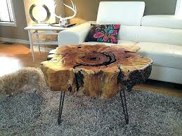 tree trunk coffee table tables made from trunks stump wood end luxury log diy