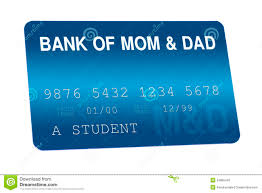 And Bank Background Dad - Stock Card Credit 34685445 Of Finances Mom Card Illustration Family