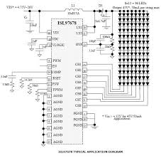 led driver circuit diagram pwm wiring schematics and diagrams 8 channel led driver circuit using isl97678 ic