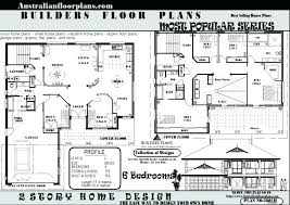 ideas two story 6 bedroom house plans for beautiful image 2 story house plans with 6