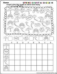 preschool spring graph worksheets - Preschool Crafts
