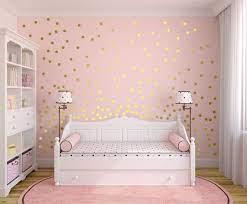 metallic gold wall decals polka dot