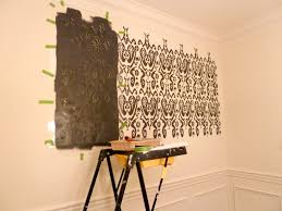 how to stencil wall paint stencils wall painting ideas