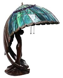 Beautiful Flying Lady Lamp Aqua Wings In 2019 Décor Stained