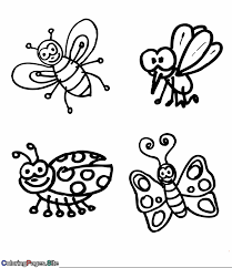 If you want to color in some centipedes, ants, ladybugs, and more, this is the place for you. Flying Insects Coloring Page