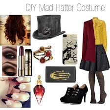 diy mad hatter costume polyvore