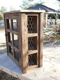 Rustic Wood Medicine Cabinet Custom Small Wooden Medicine Cabinet Or Pie Safe By