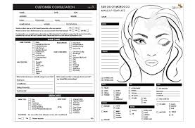free makeup consultation form gallery make a resume template forms artists mage client
