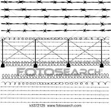 barbed wire fence drawing. Clipart - Barbed Wire Fence. Fotosearch Search Clip Art, Illustration Murals, Fence Drawing