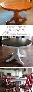 diy dining room table makeover. DIY Oak Table And Chair Makeover Diy Dining Room
