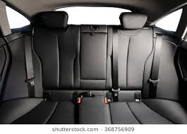 car back seat. Beautiful Car Back Black Leather Seat Of The Car Isolated Intended Car Back Seat M