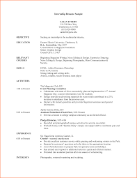 Mesmerizing Journalism Resume Samples In Resume Template For College