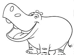 Hippo Coloring Pages Coloring Baby Hippo Coloring Pages To Print