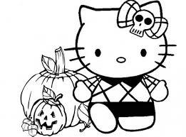 Halloween Con Hello Kitty Da Colorare Cose Per Crescere