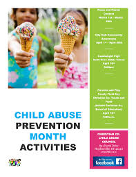 child abuse flyers child abuse prevention month activities