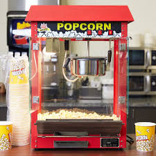 Popcorn Express Vending Machine Custom Carnival King PM448R Royalty Series 48 Oz Red Commercial Popcorn