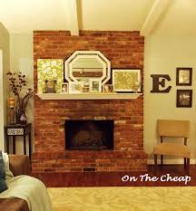 wonderful fireplace red brick fireplace mantel decorating ideas 11792 decor with a