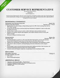 Customer Service Resumes Musiccityspiritsandcocktail Com