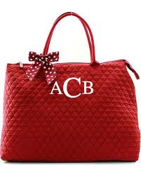 New Year's Deals on Monogram Quilted Red Tote Bag Large ... & Monogram Quilted Red Tote Bag Large Personalized Quilted Solid Red Tote  Quilted Solid Overnight Tote Diaper Adamdwight.com
