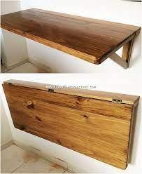 wood pallet project of folding shelf