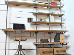caroline wood and pipe industrial desk and shelves by gas pipe desk s d5f5b3f7c854bd38