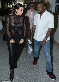 making a meal of it kim kardashian stepped out with boyfriend kanye west in miami