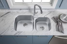 kitchen amazing kohler stainless steel kitchen sinks lovely with chrome faucet and quartz countertop for furniture