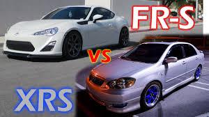 Scion FR-S vs Toyota Corolla XRS Roll Race - YouTube