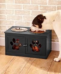 dog storage furniture. Quick View Elevated Pet Bowls With Storage Dog Furniture
