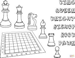 Small Picture Printable Chess Game Coloring Coloring Pages