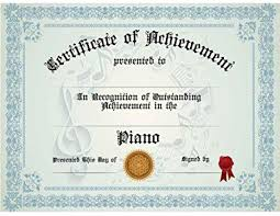 Achievement Certificate Amazon Com Piano Achievement Certificate Pack Of Ten
