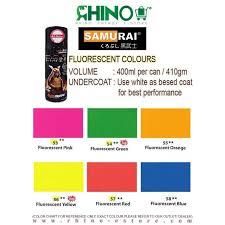 Samurai Spray Paint Colour Chart Samurai Spray Paint Fluorescent Colour No 57 Fluorescent Red
