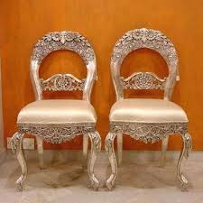 white metal furniture. Silver Or White Metal Inlaid Chairs Furniture