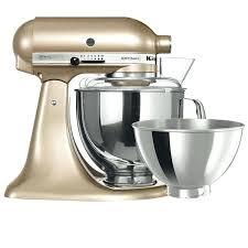 gold kitchenaid mixer artisan stand champagne hand