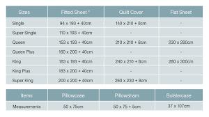 Bed Sheet Bedding Sizes Measurements Bedorigin Com My