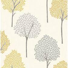 Brewster Andover Mustard Eula Wallpaper ...
