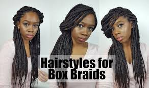 Quick Hairstyles For Braids 6 Easy Cute Hairstyles For Box Braids Youtube