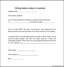 Notice Of Lease Termination Letter From Landlord To Tenant Notice ...