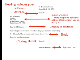 Basic Business Letters Parts Of A Business Letter Levelings