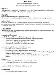 Hvac Resume Examples Good Skills Help Build Your Systematic Vision