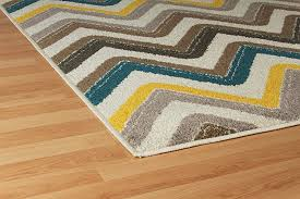 new fashion luxury chevron 5x8 large rugs for living room gray cream blue yellow brown