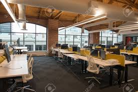 Office natural light Beautiful Office Stock Photo Trendy Modern Open Concept Loft Office Space With Big Windows Natural Light And Layout To Encourage Collaboration Creativity And 123rfcom Trendy Modern Open Concept Loft Office Space With Big Windows